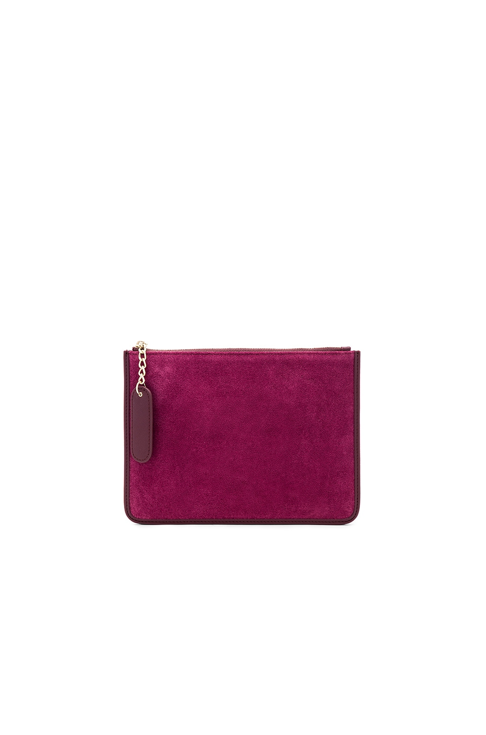 the daily edited Suede Pouch in Burgundy