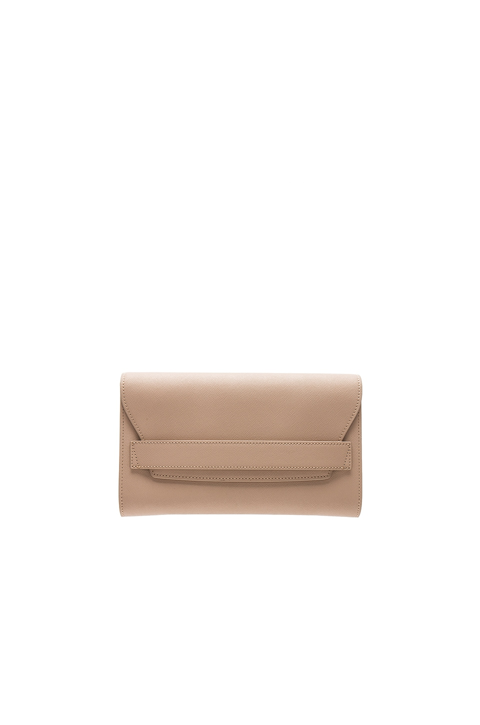 the daily edited Fold Clutch in Taupe