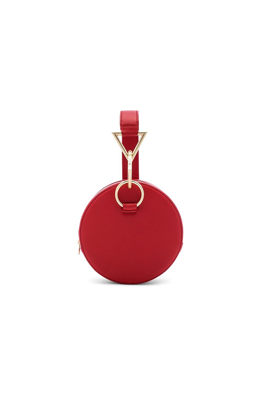 Tara Zadeh Azar Calf Leather Clutch Bag in Coral Red