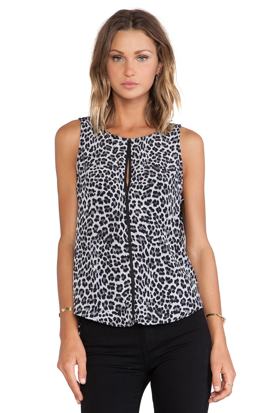 Three Eighty Two Harper Keyhole Tank in Cheetah