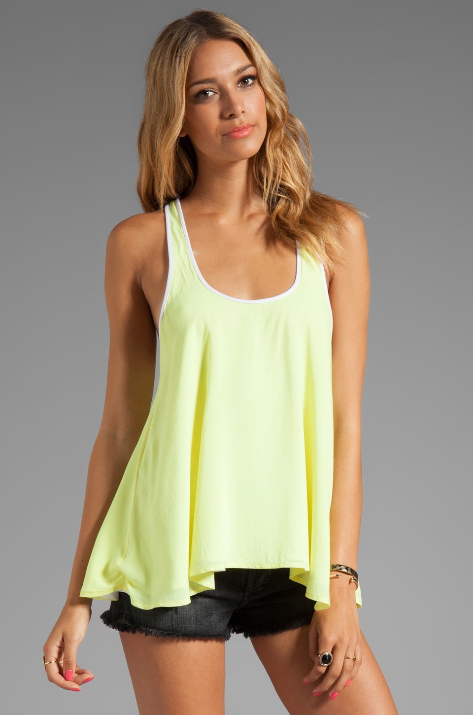 Testament Issa Reversible Tank in Lime