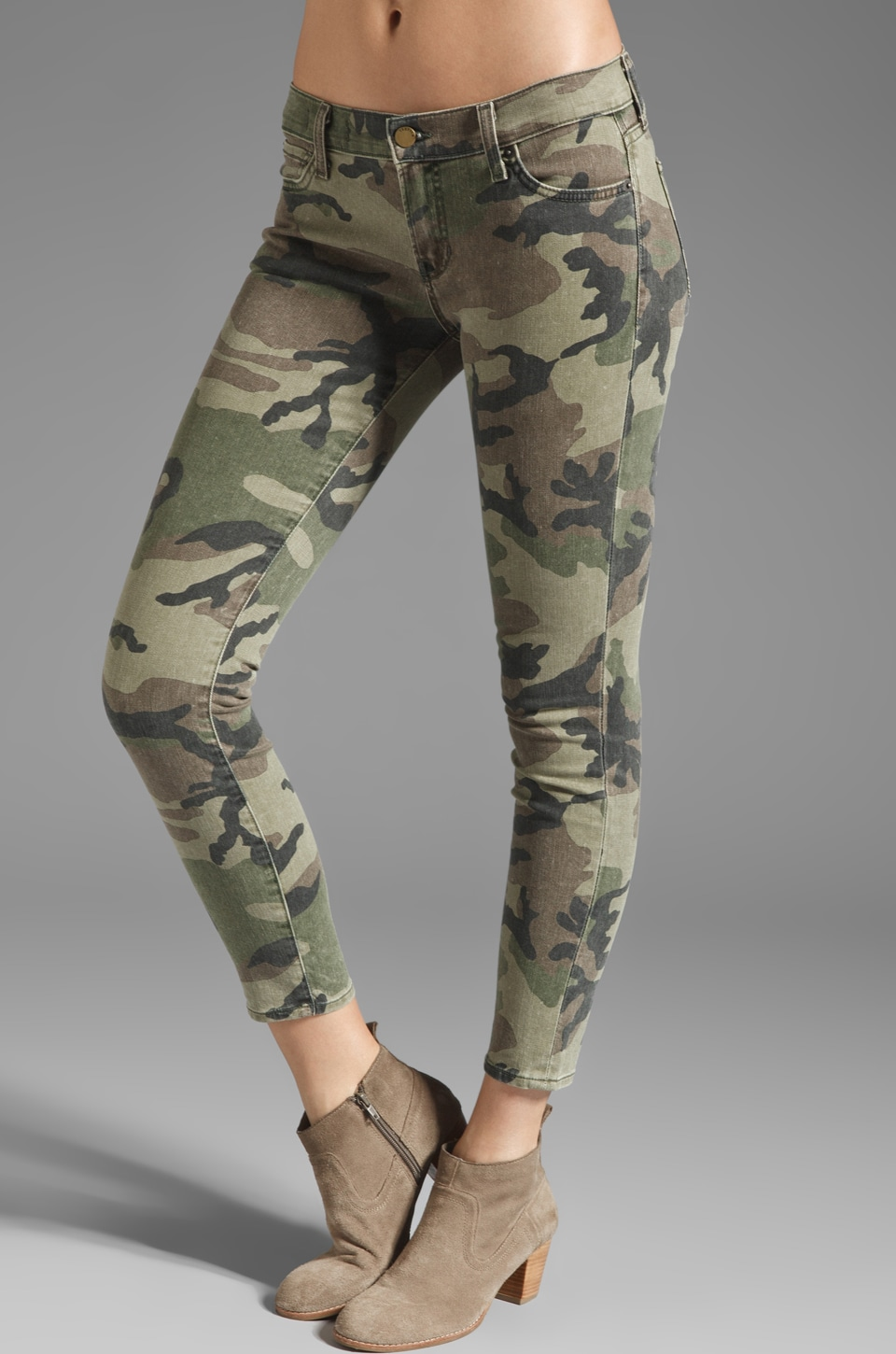 TEXTILE Elizabeth and James Ozzy Skinny in Olive Camo