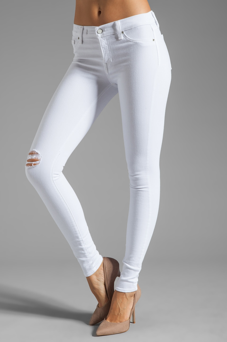 TEXTILE Elizabeth and James Debbie Skinny in Destroyed White
