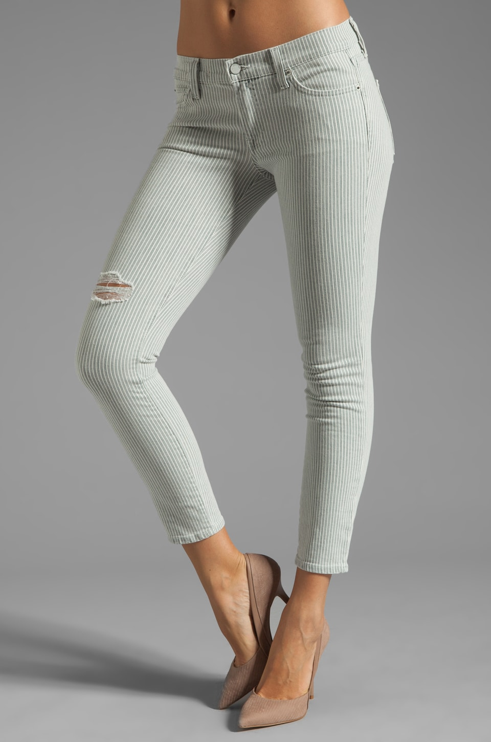 TEXTILE Elizabeth and James Ozzy Skinny in Destroyed Conductor Stripe