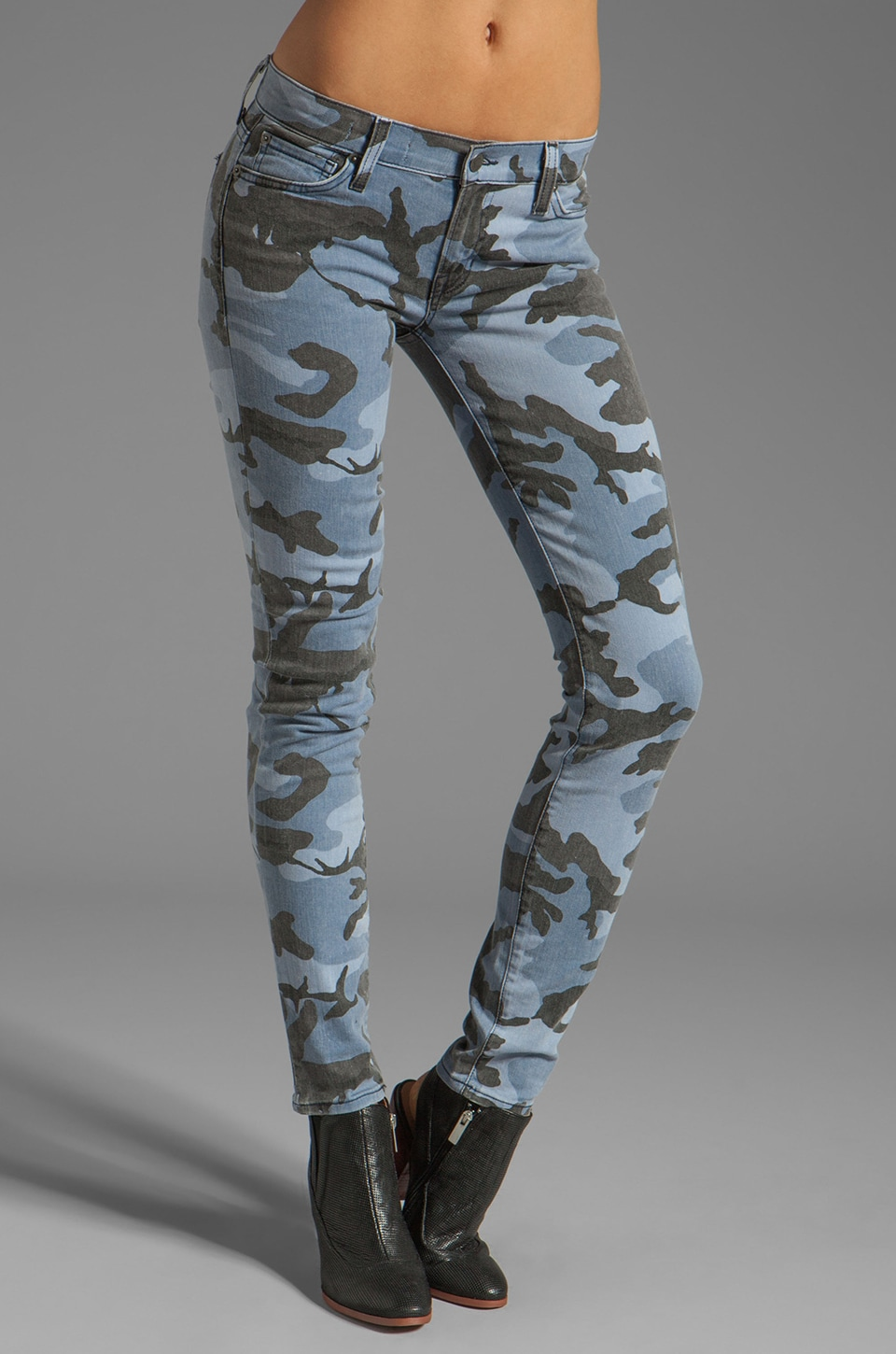 TEXTILE Elizabeth and James Debbie Skinny in Blue Camo