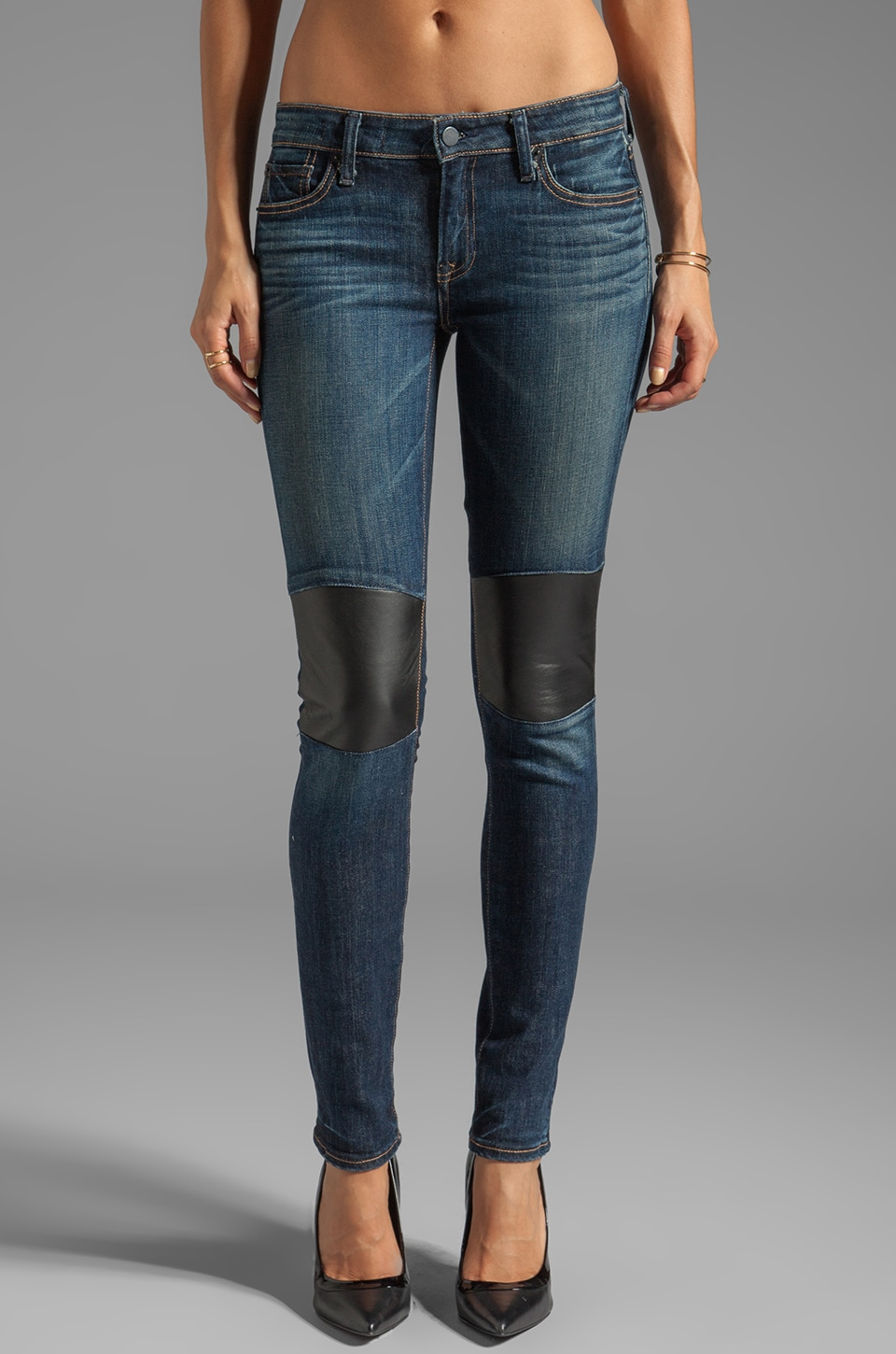 TEXTILE Elizabeth and James Tommy Skinny with Leather Knee Patch in Festival