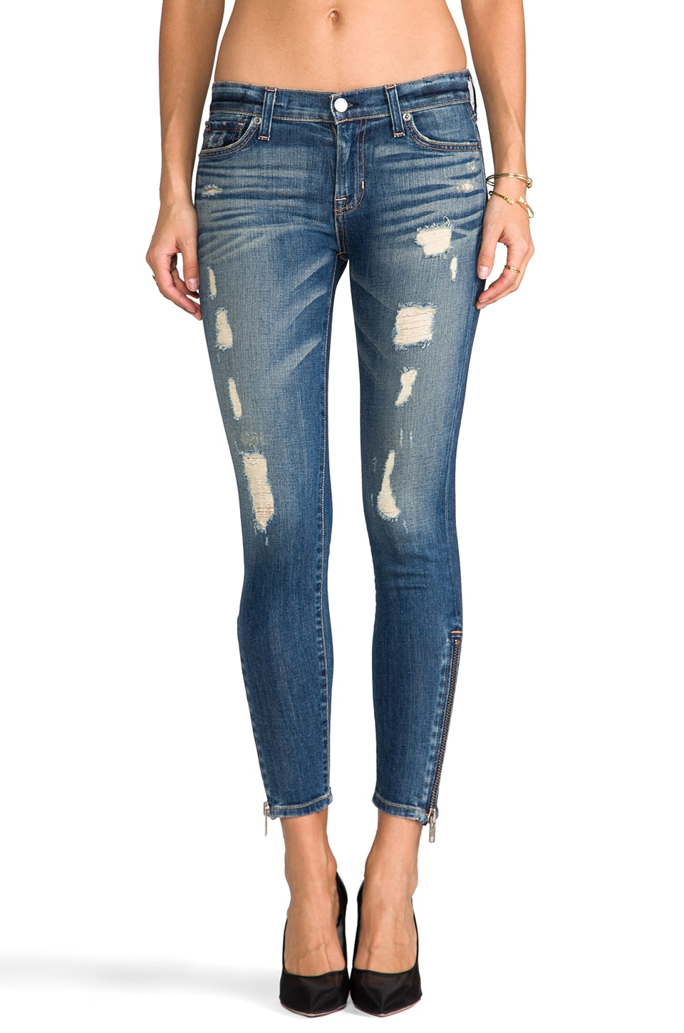 TEXTILE Elizabeth and James Davis Ankle Skinny in Moon Struck