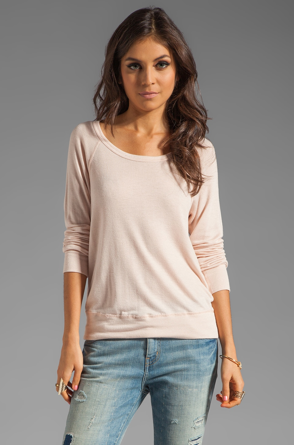 TEXTILE Elizabeth and James Perfect Sweatshirt in Blush