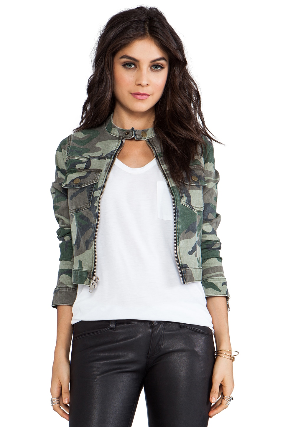 TEXTILE Elizabeth and James Wesley Jacket in Olive Camo