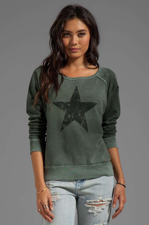 TEXTILE Elizabeth and James Star Perfect Sweatshirt in Green/Grey