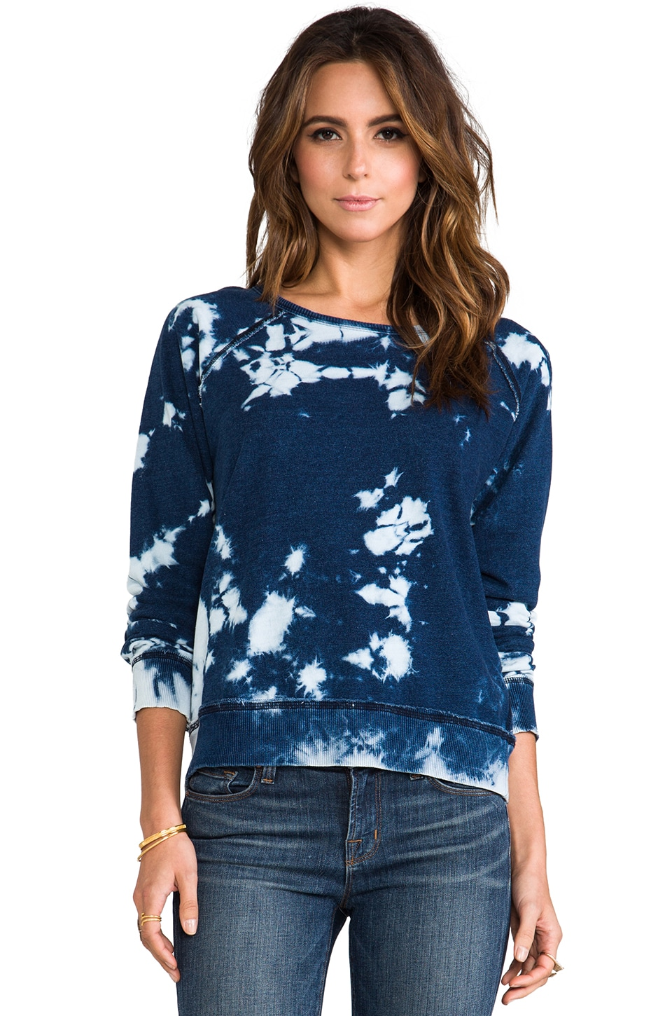 TEXTILE Elizabeth and James Perfect Sweatshirt in Blue Tie-Dye