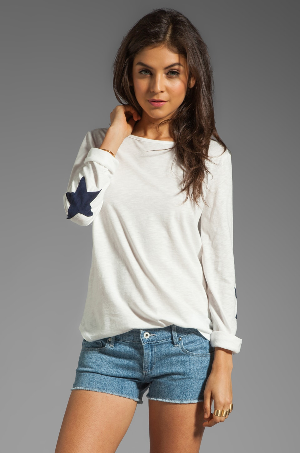 TEXTILE Elizabeth and James Starboard Adelson Tee in White