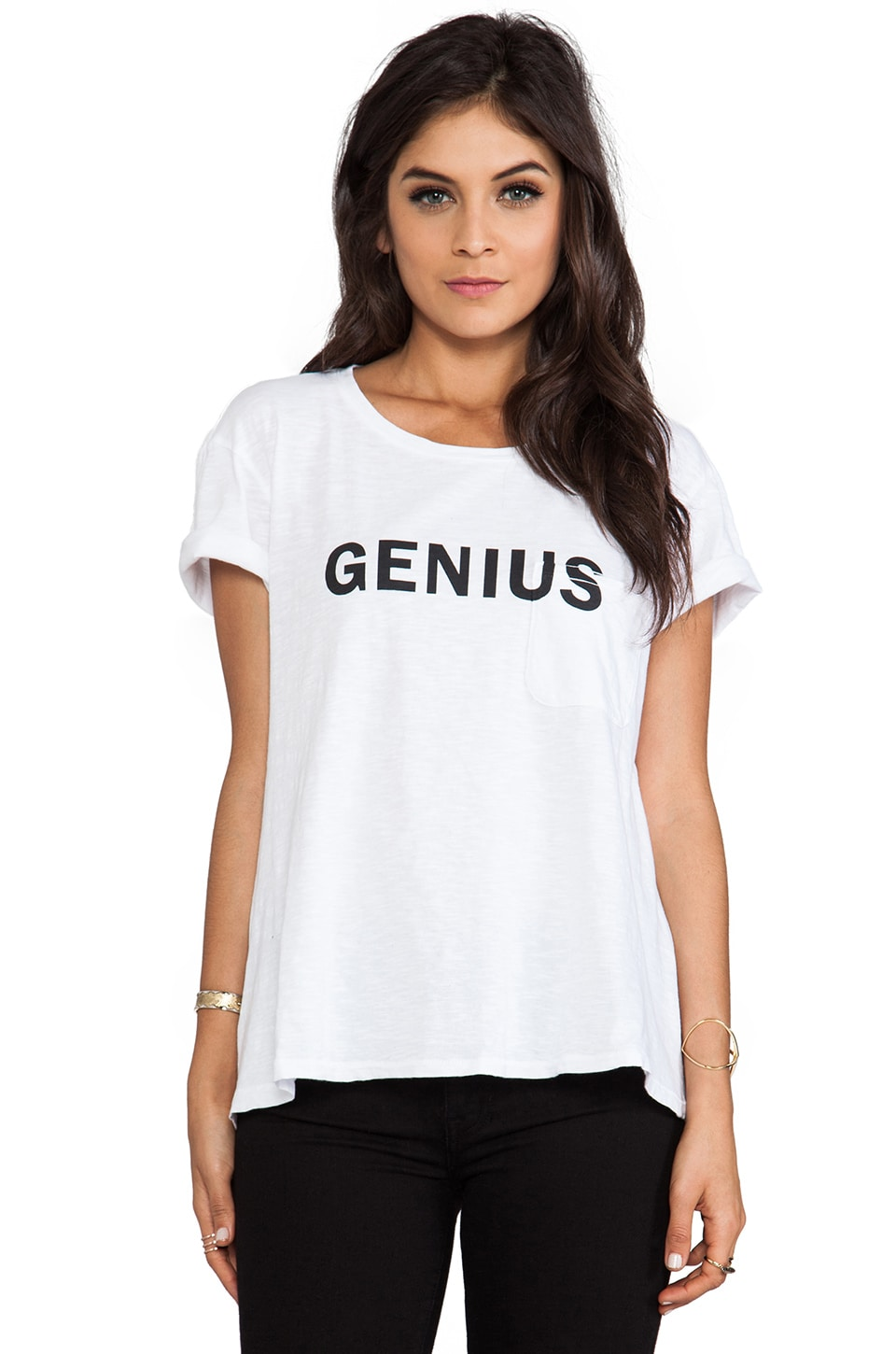 TEXTILE Elizabeth and James Genius Bowery Tee in White/Black