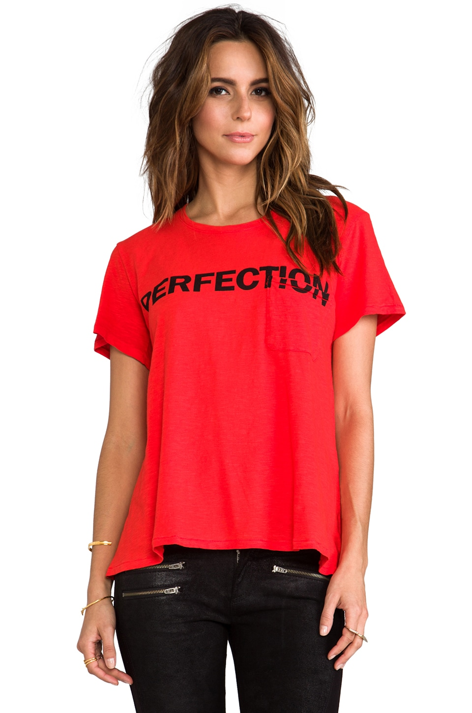 TEXTILE Elizabeth and James Perfection Bowery Tee in Empire Red/Black