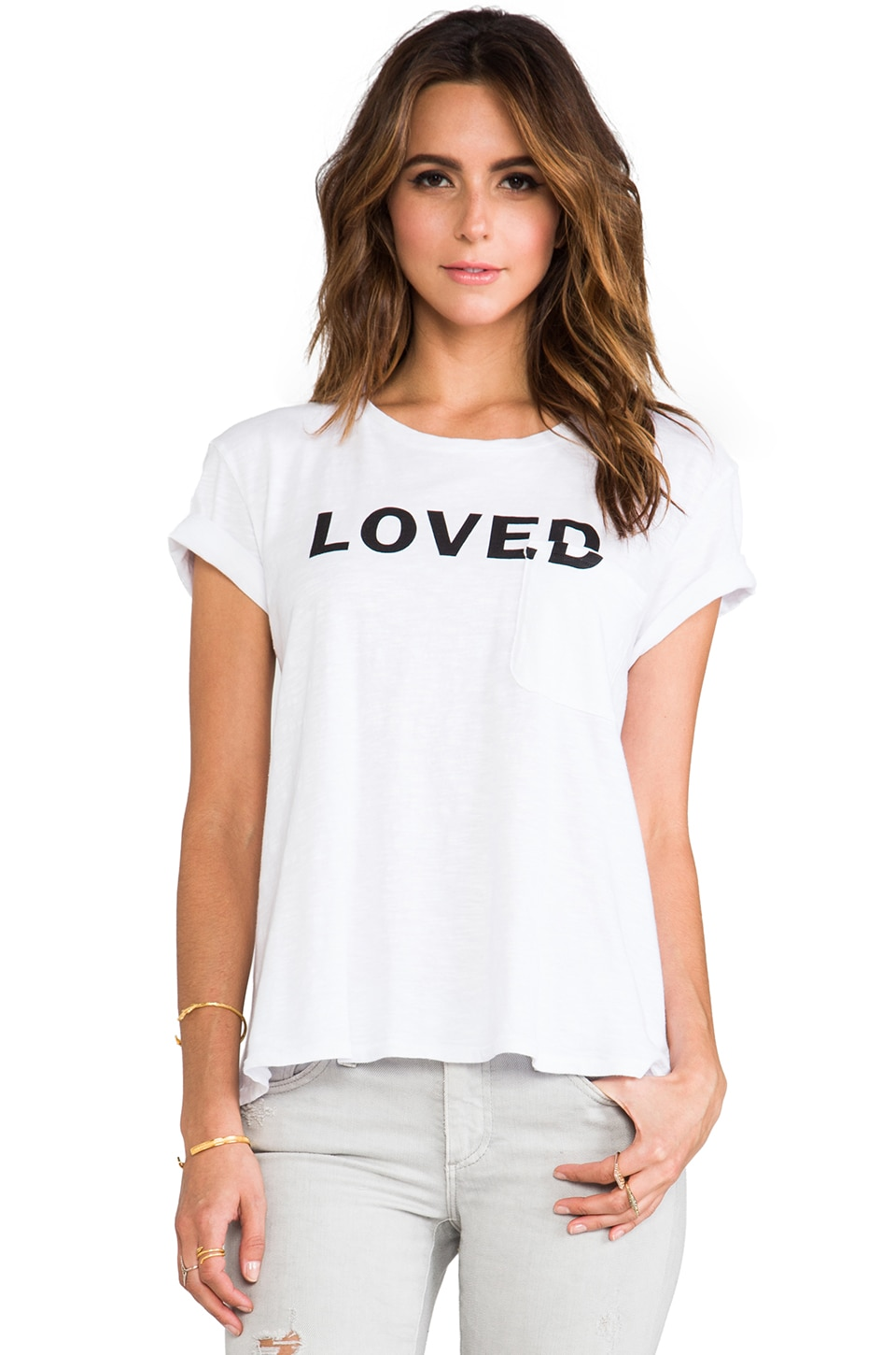 TEXTILE Elizabeth and James Love Bowery Tee in White/Black