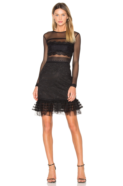 Three Floor Stargate Dress in Black