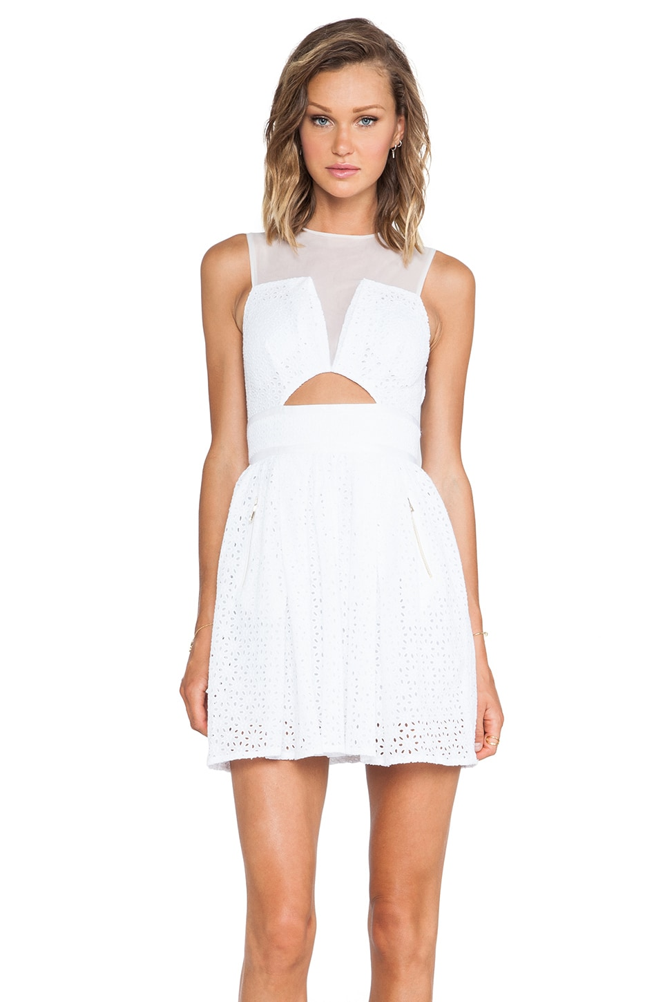 Three Floor Precisely Mini Dress in White