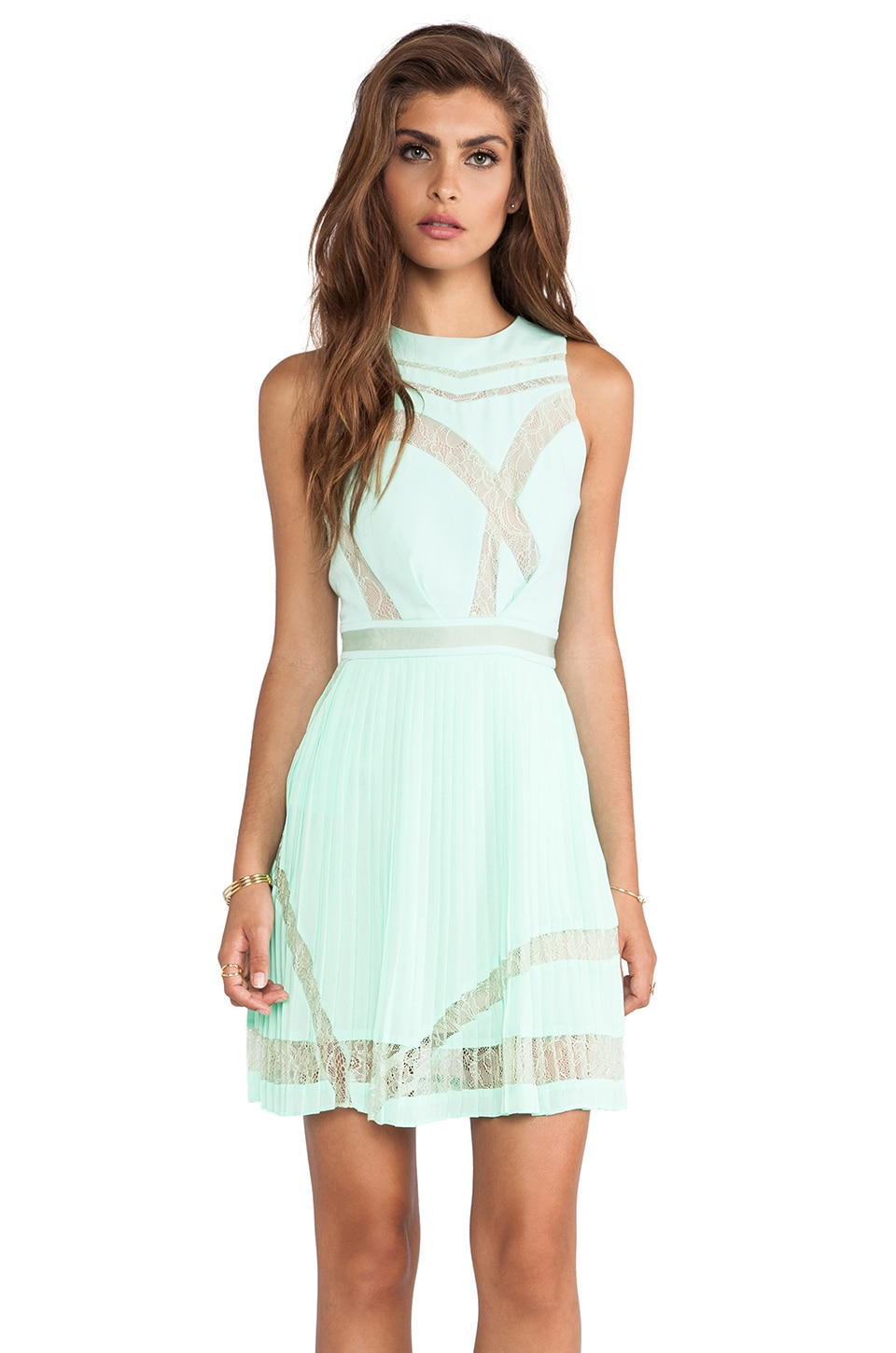 Three Floor Sweet Something Dress in Mint Green