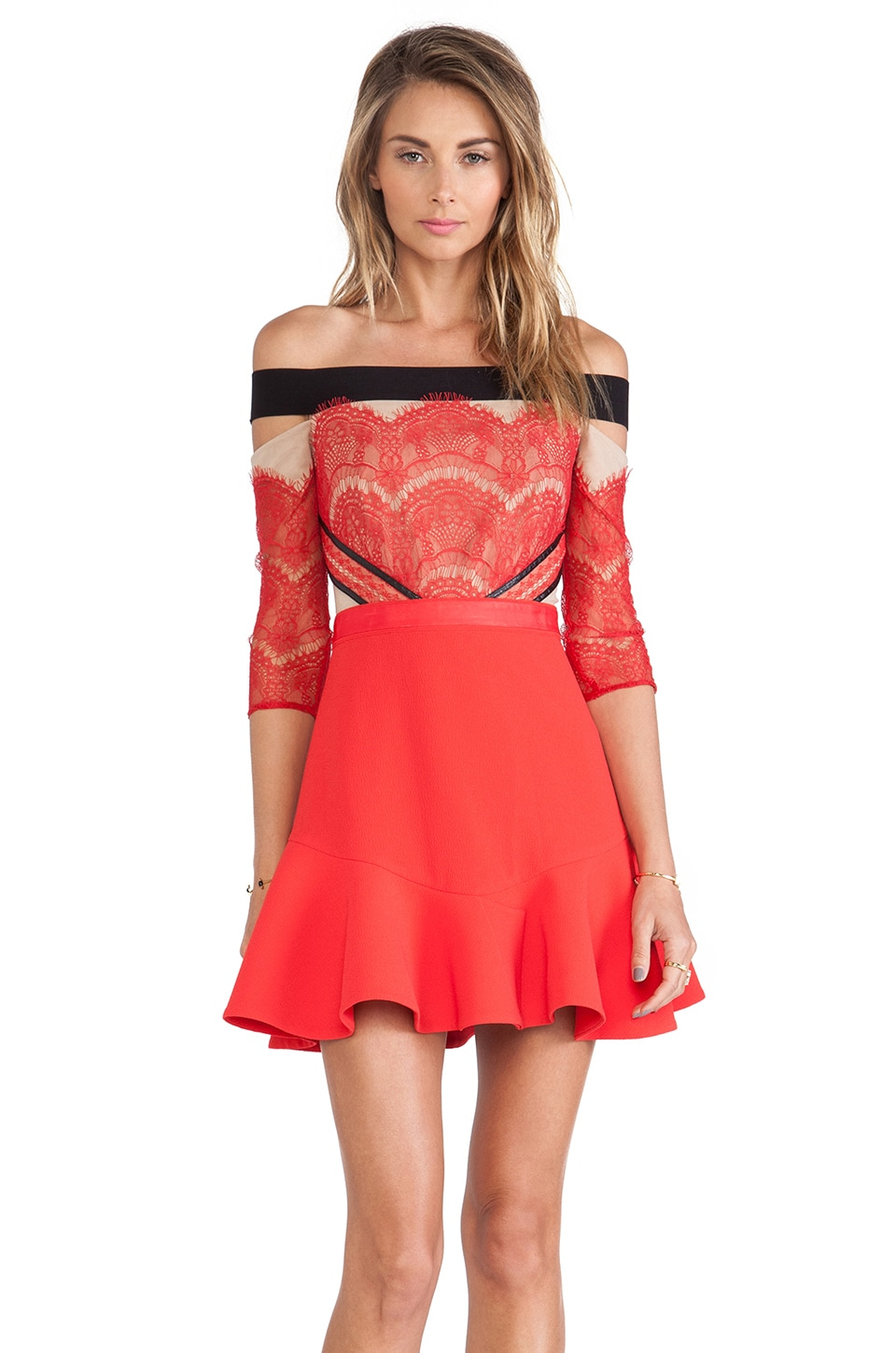 Three floor x revolve kloss up dress in red revolve for Three floor yellow dress