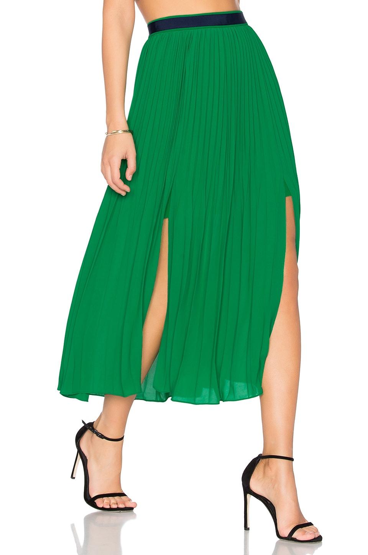 Three Floor Envy Skirt in Emerald Green