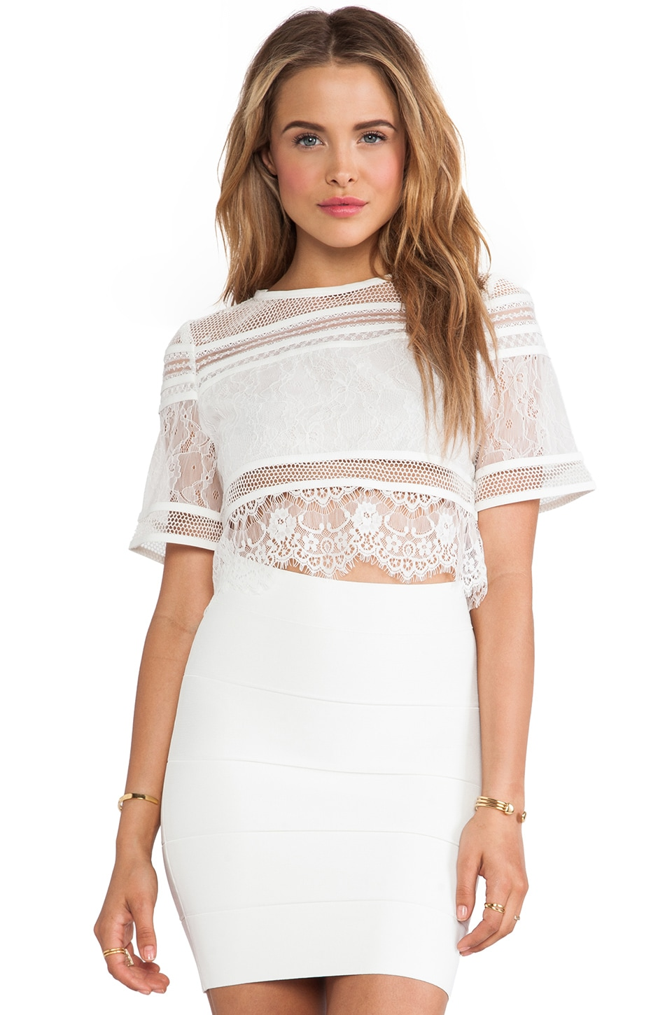Three Floor About You Top in White