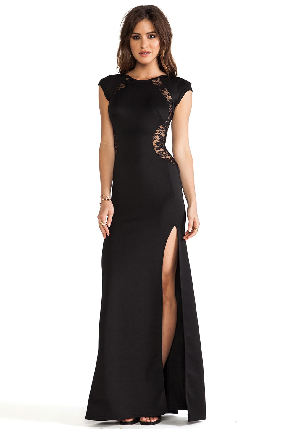 TFNC London Folly Maxi Dress in Black