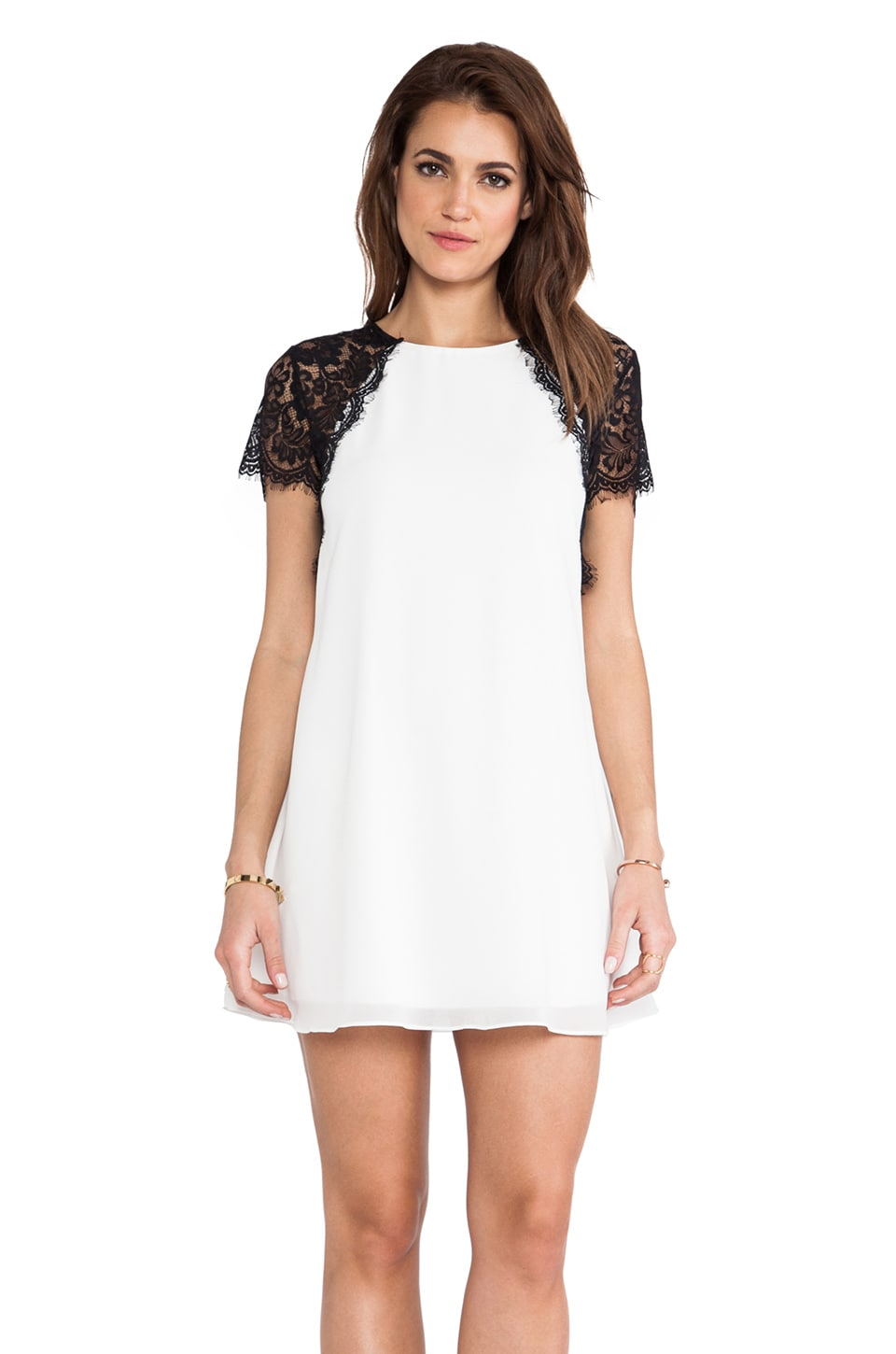 TFNC London Lava Dress in White &  Black