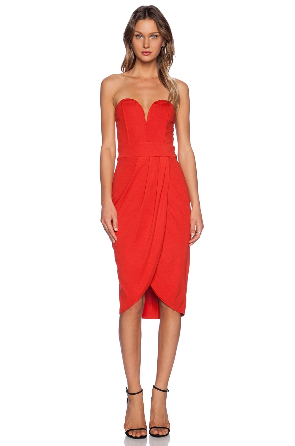 TFNC London Cara Mini Dress in Red