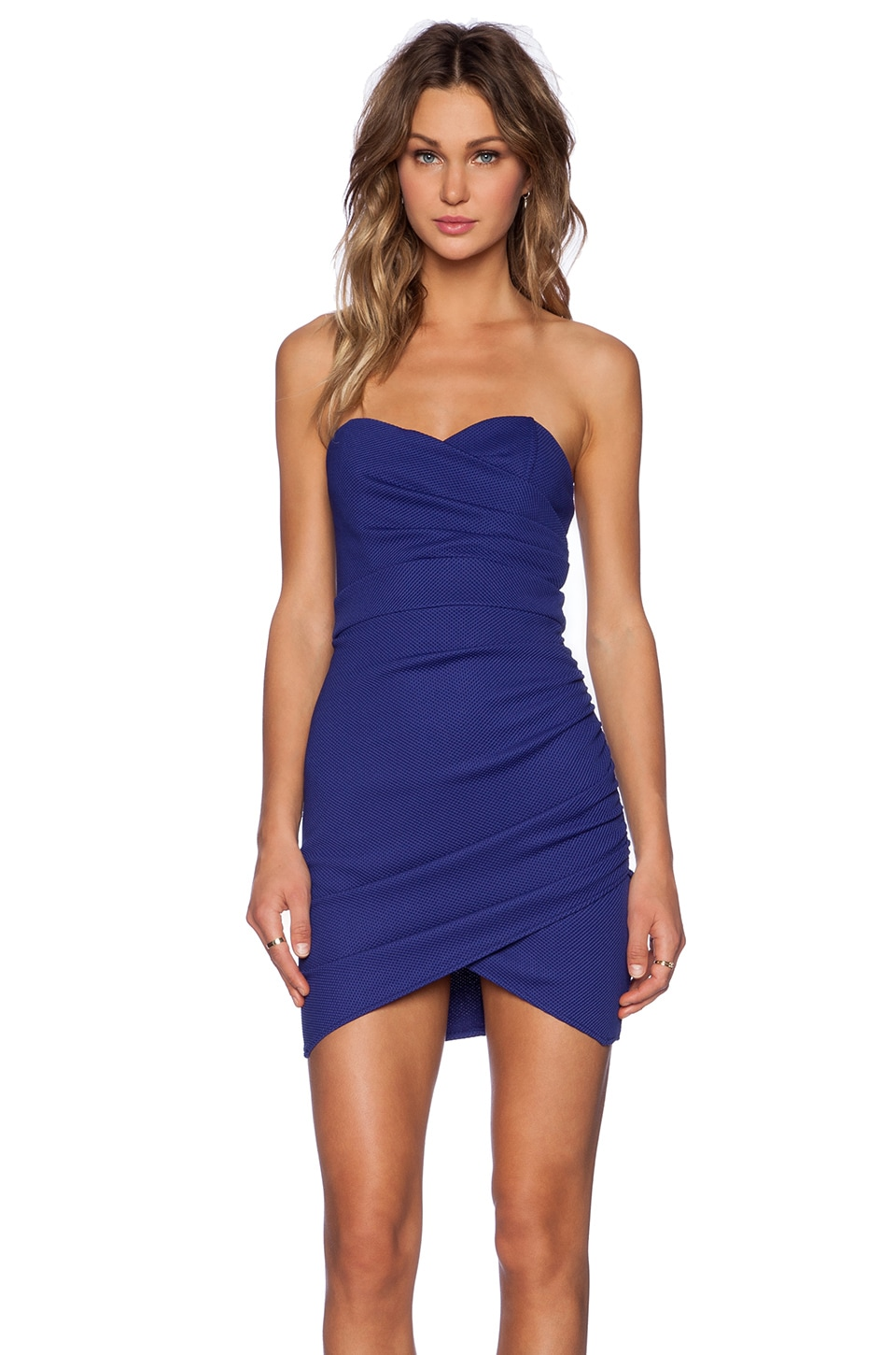 TFNC London Thai Mini Dress in Blue