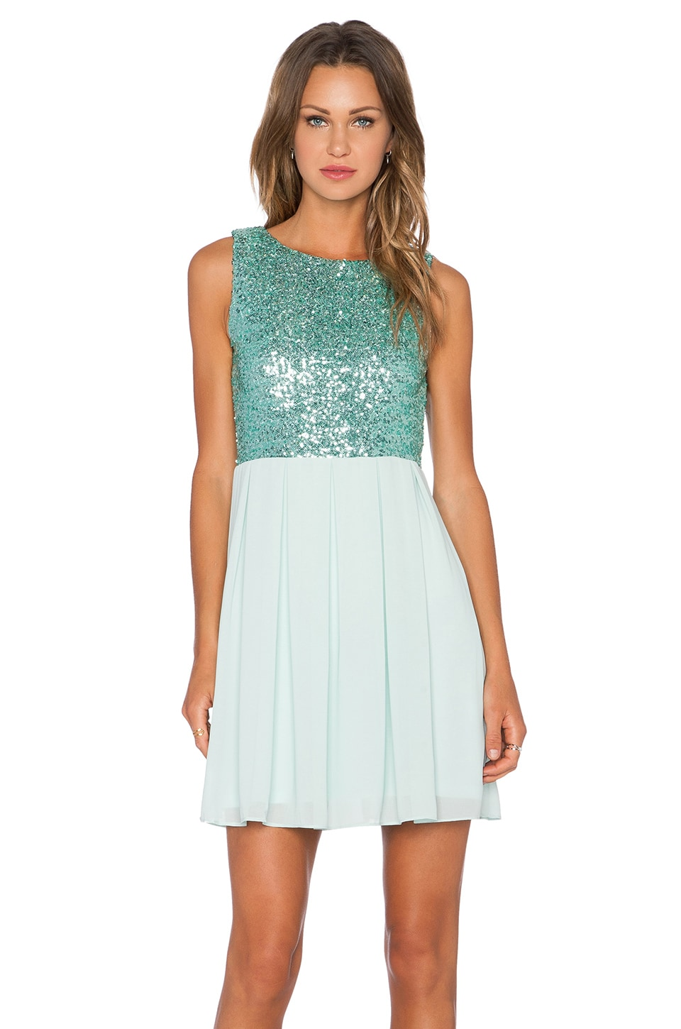 TFNC London Sarah Sequin Dress in Mint