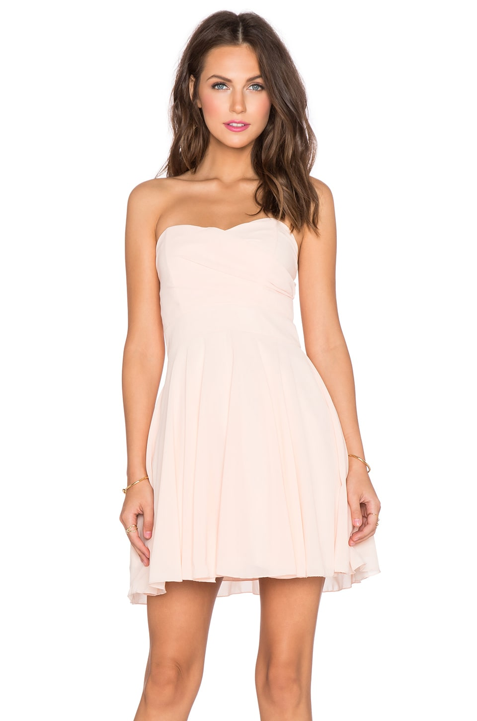 TFNC London Minnie Dress in Blush