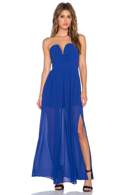 TFNC London Nelle Maxi Dress in Blue
