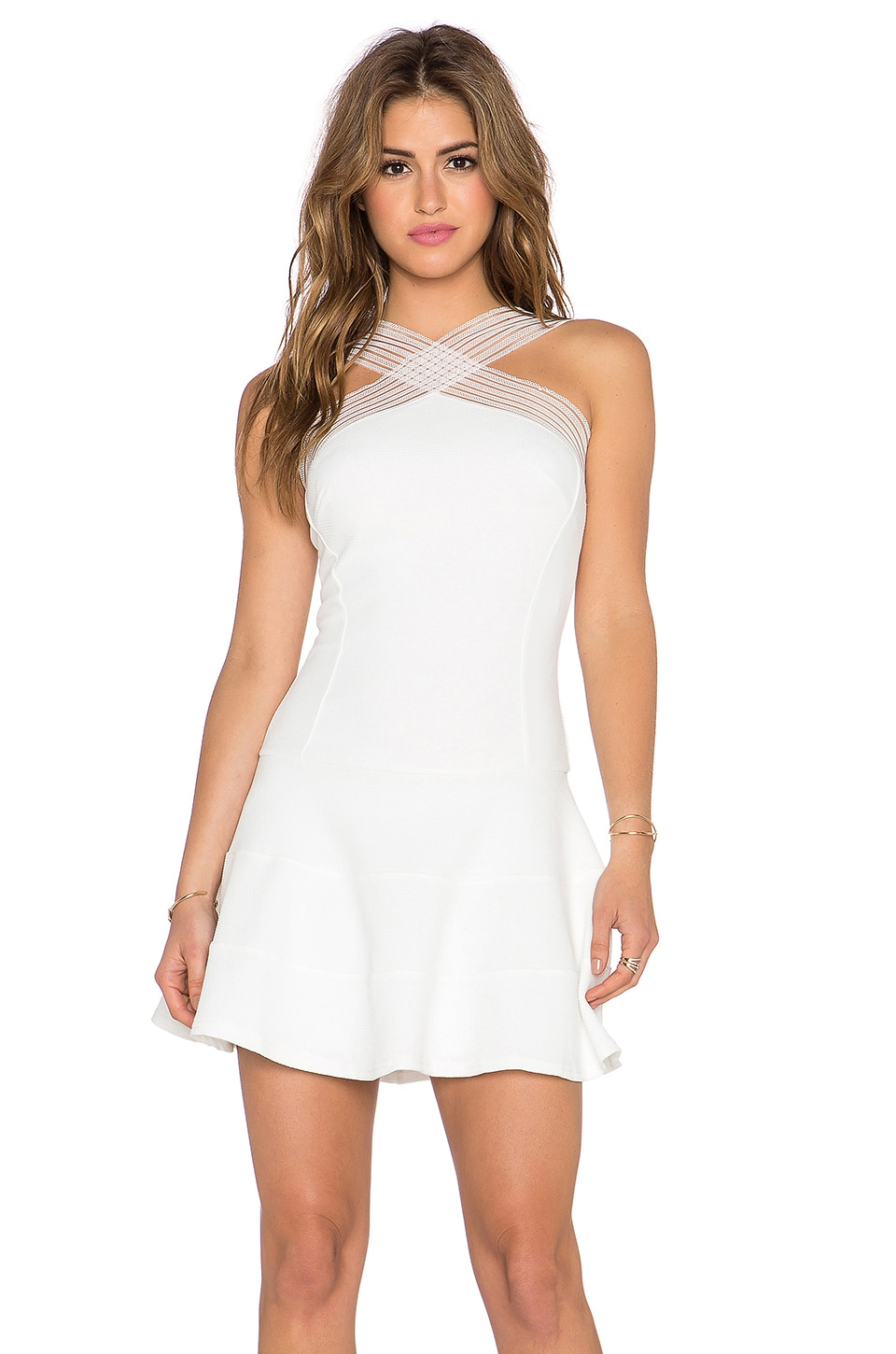 TFNC London Freda Dress in White