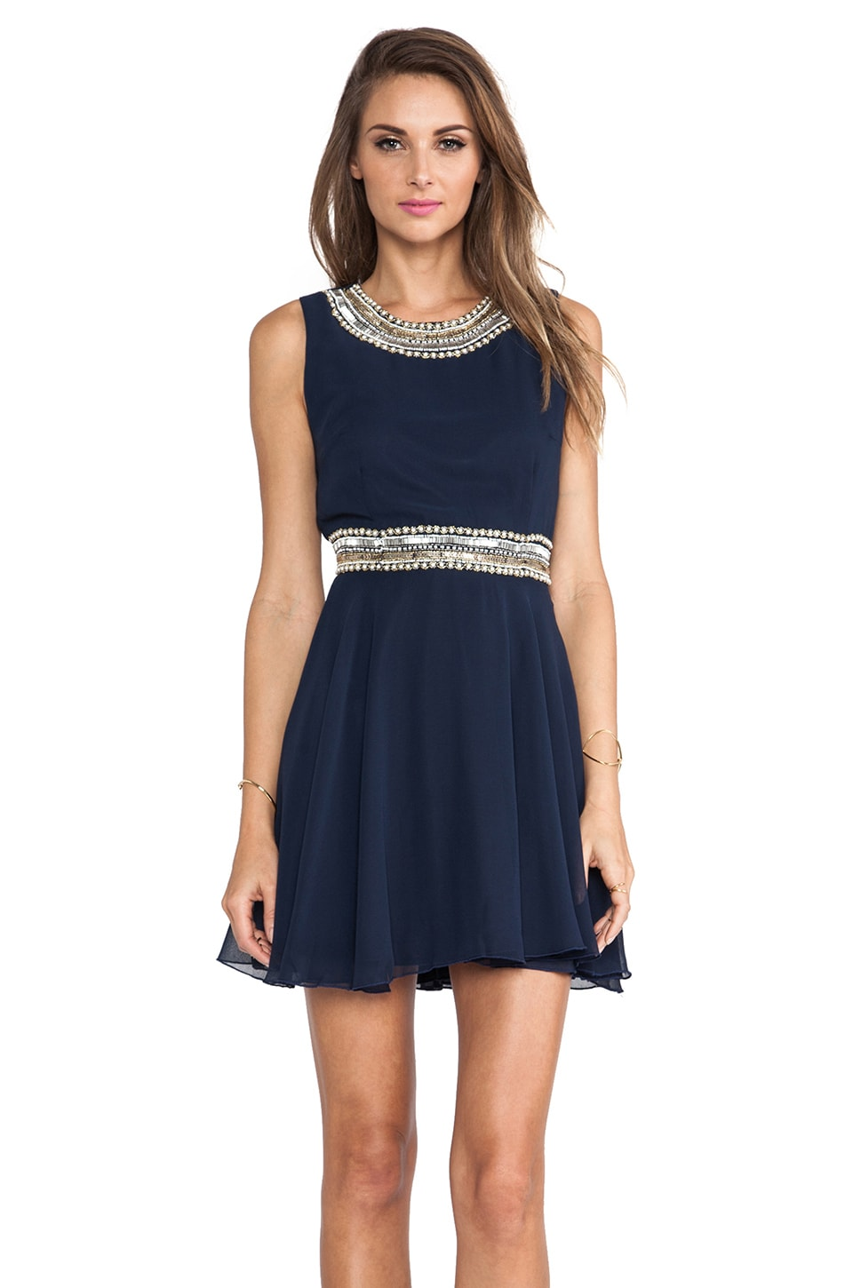 TFNC London Hope Tank Dress in Navy