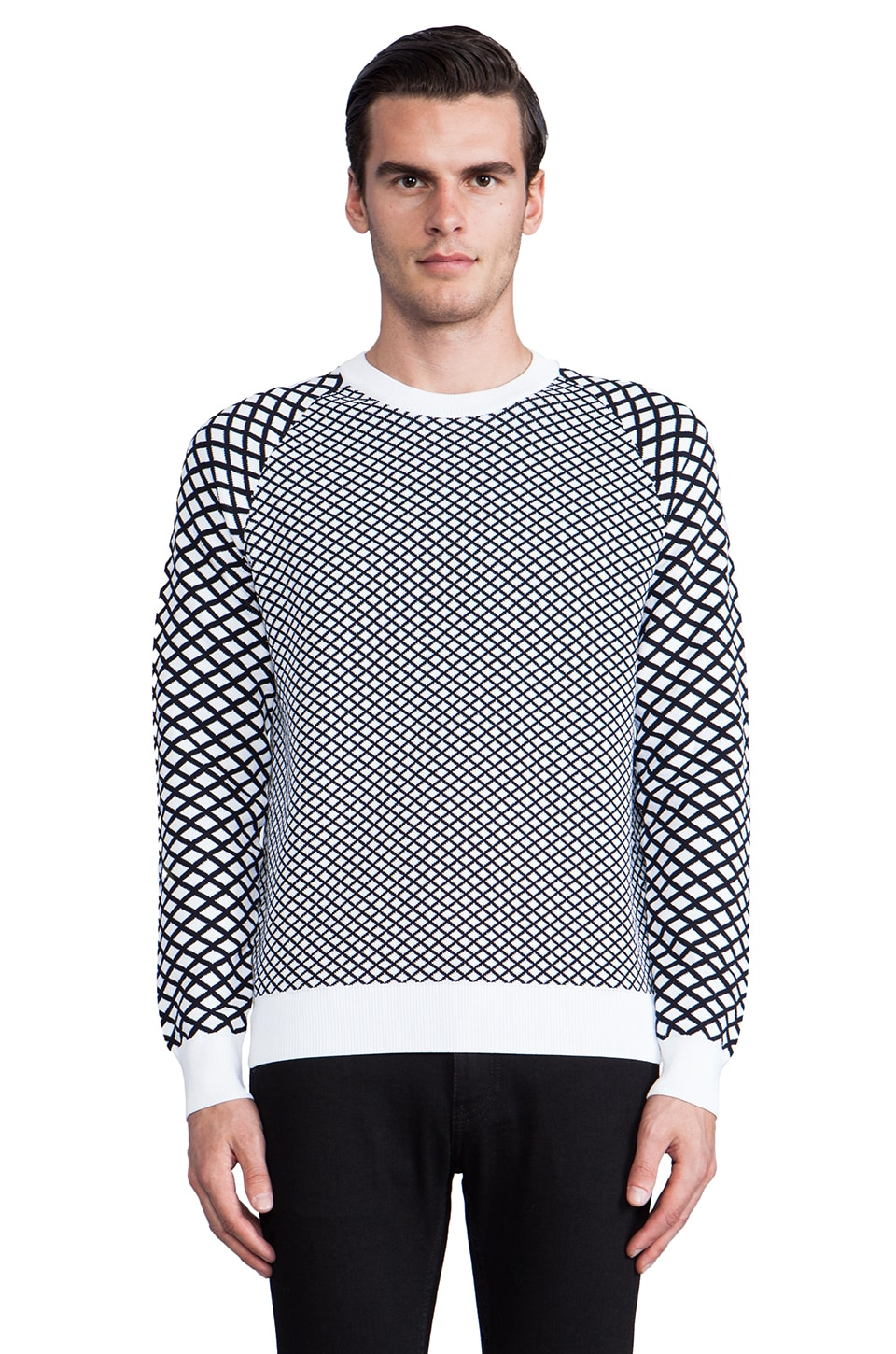 Theory 38 Rorin Sweater in Black/White