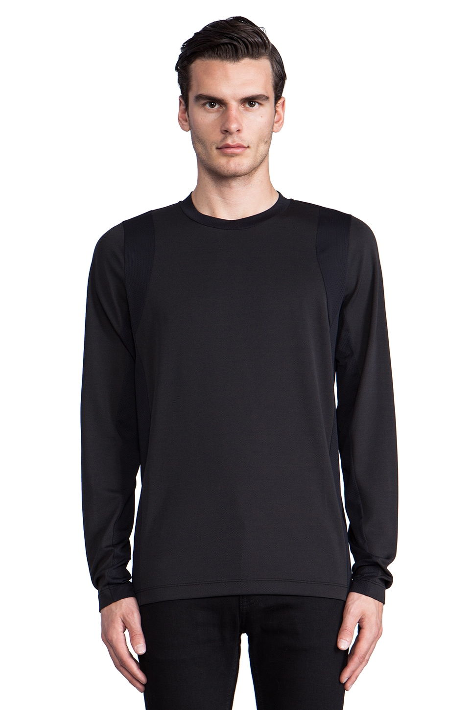 Theory 38 Dacher Colorblock Pullover in Black