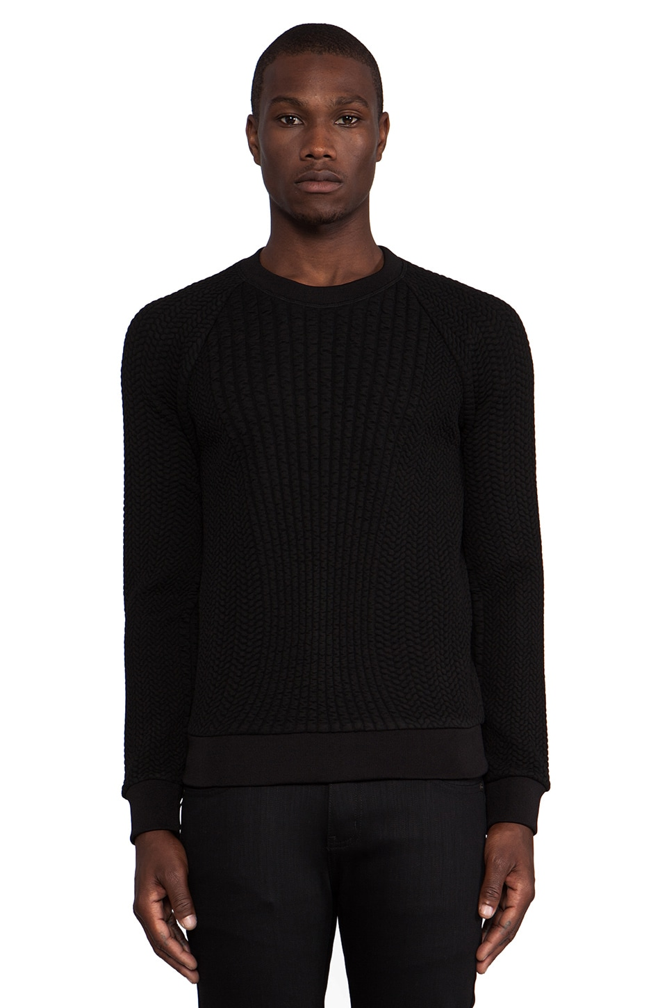 Theory 38 Tornt Sweater in Black
