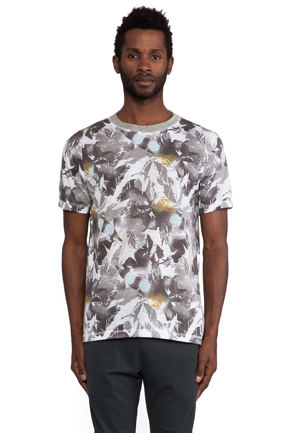 Theory 38 Treck Graphic Tee in Grey Multi