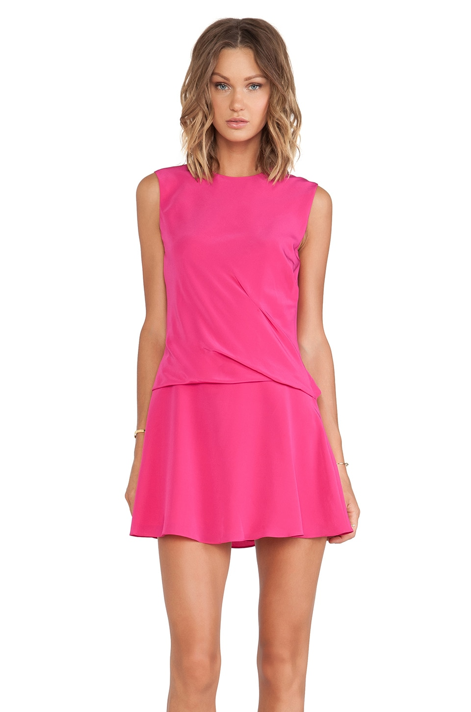 Thakoon Addition Draped Skirt Dress in Pink