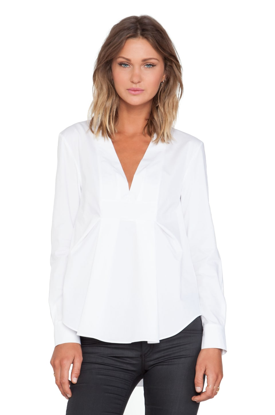 Thakoon Addition V Front Shirt in White