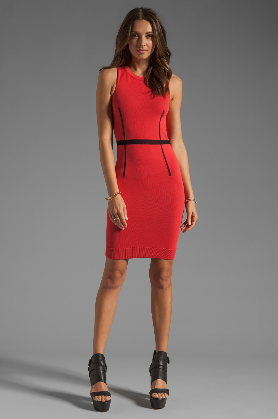 Thatcher Trace Sleeveless Dress in Punch
