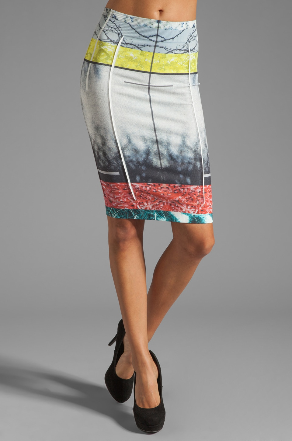 Thatcher Minimalist Tube Skirt in Neo Realia