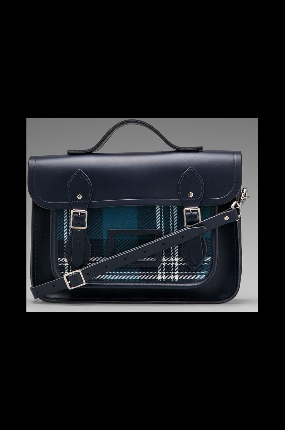 The Cambridge Satchel Company Designer Tartan 13'' w/ Plaid Front in Navy