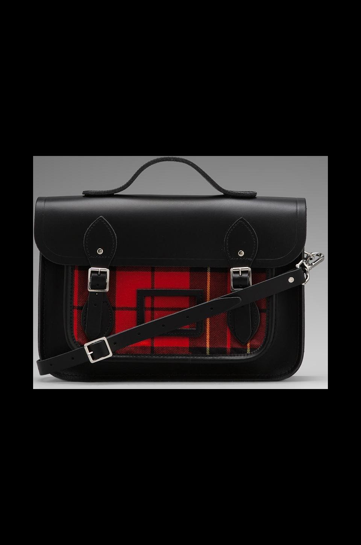 The Cambridge Satchel Company Designer Tartan 13'' w/ Plaid Front in Black
