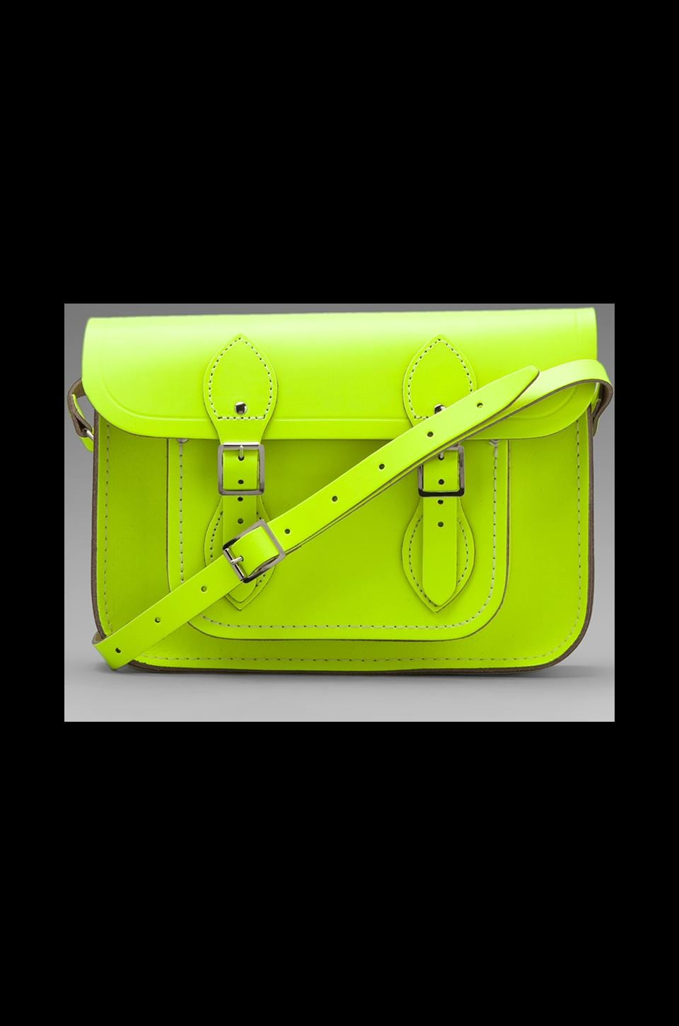 The Cambridge Satchel Company Single Strap Satchel in Fluoro Yellow