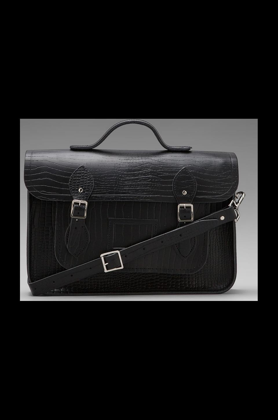 The Cambridge Satchel Company Embossed Stamp Satchel in Black