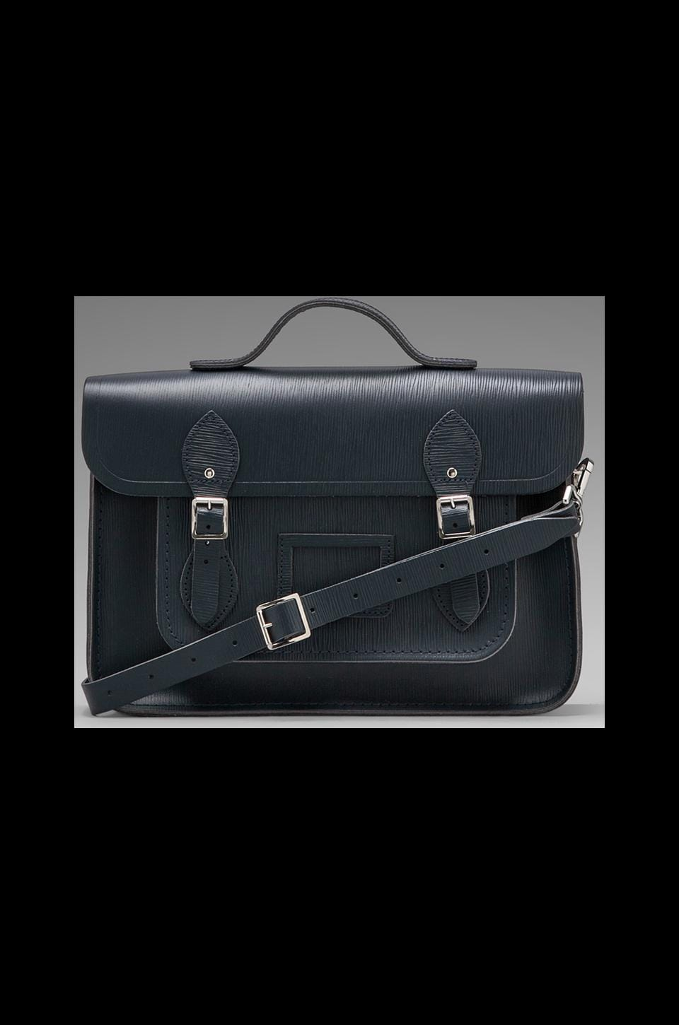 The Cambridge Satchel Company Embossed Stamp Satchel in Navy