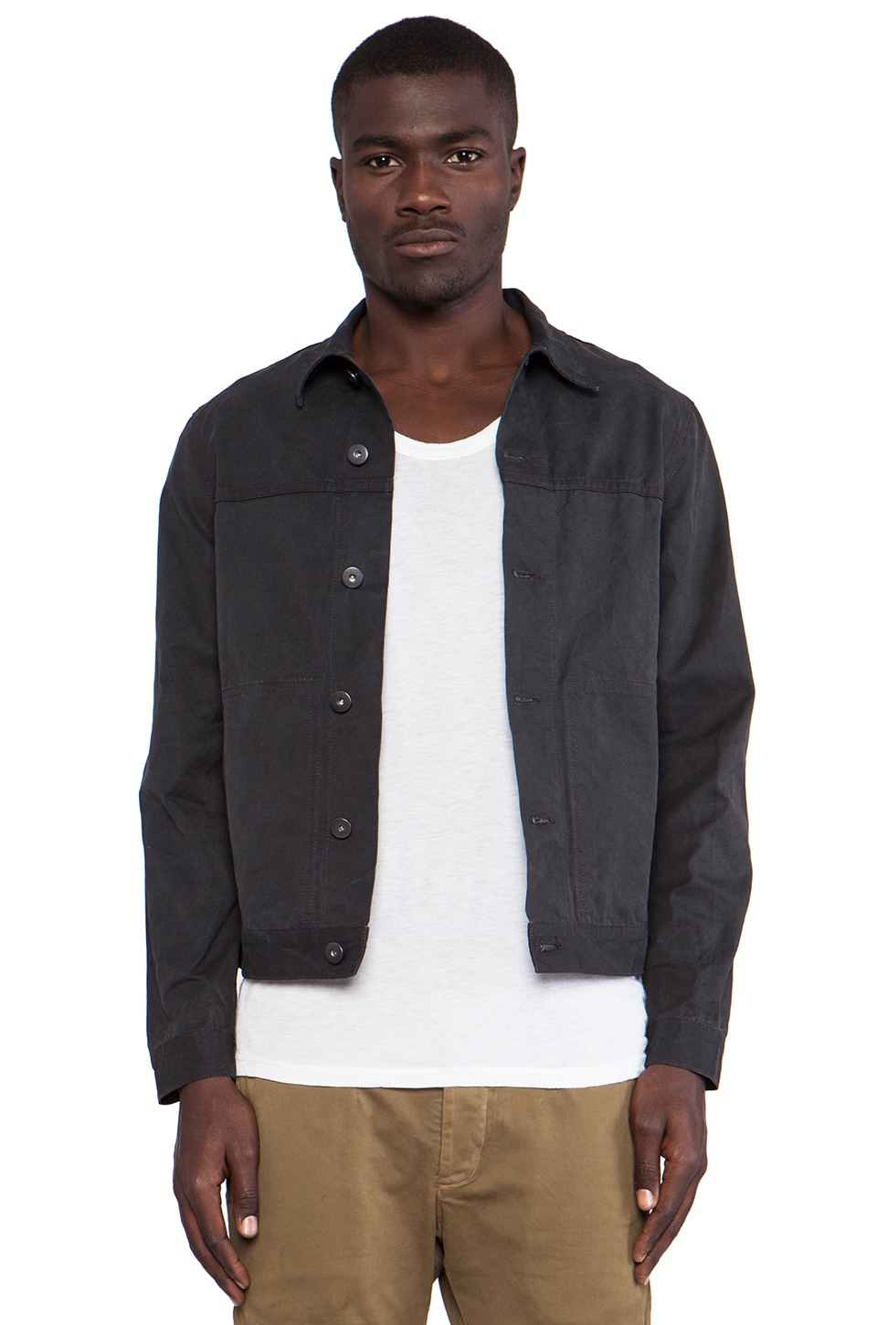 THE/END Chino Rider Jacket in Vintage Black