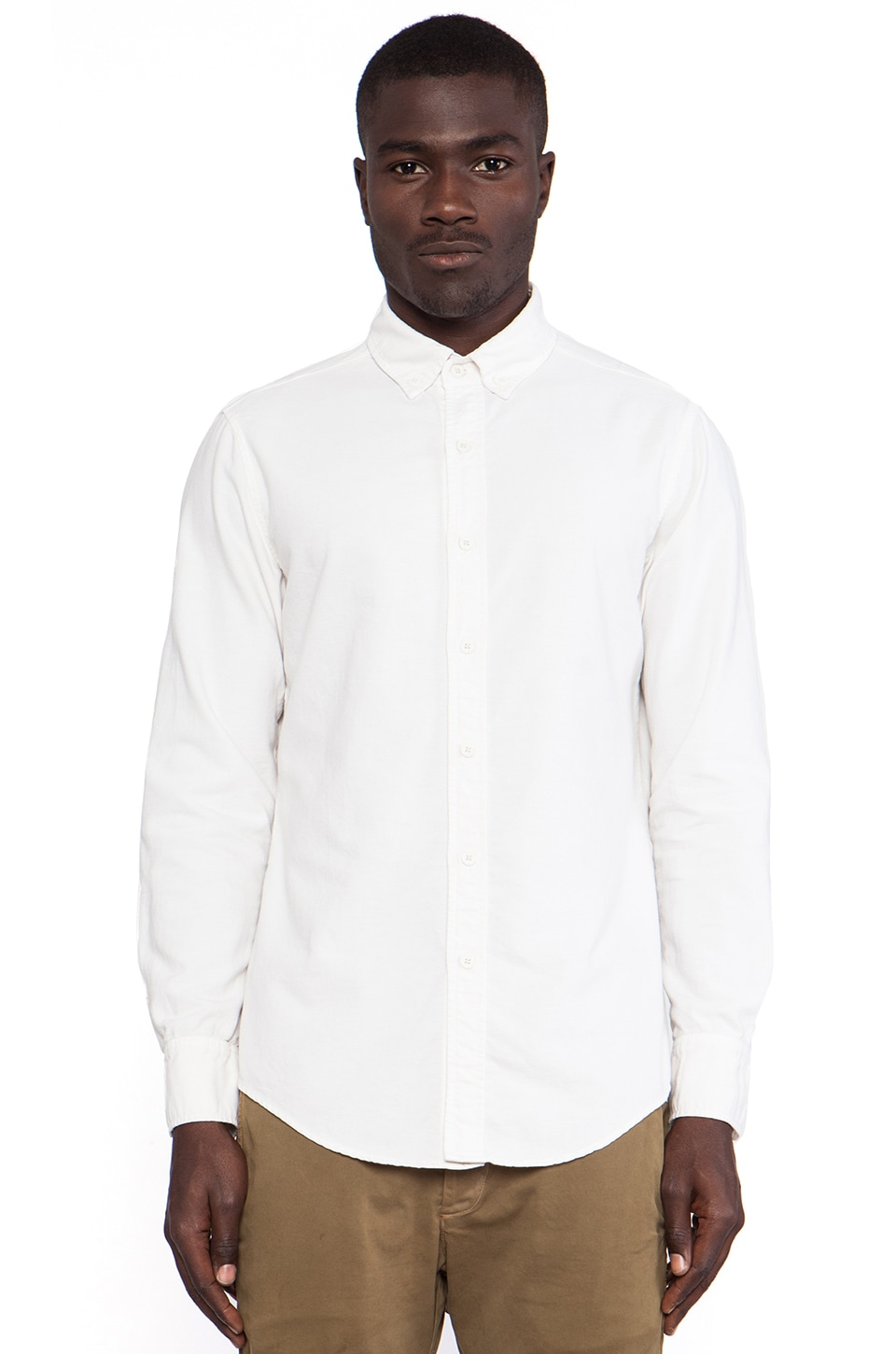 THE/END Officer L/S Button Down in Vintage White