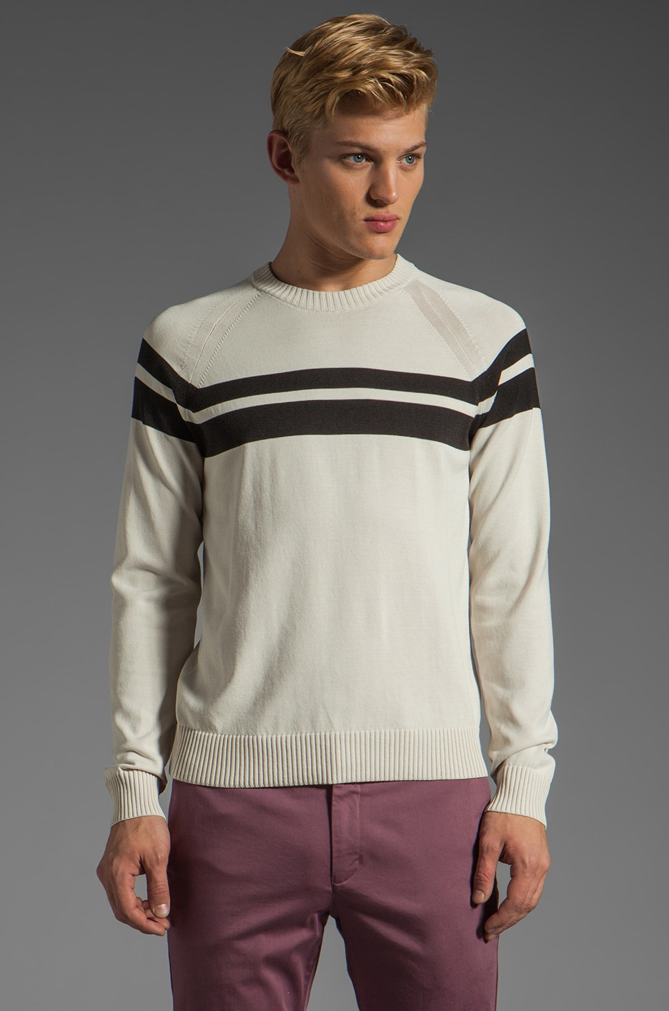 Theory Maneuver Lorenz Sweater in Light Haight